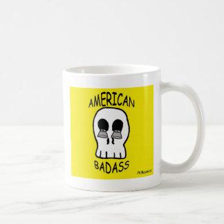 かみそりの刃が付いているスカル コーヒーマグカップ