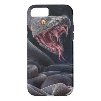 かむこと準備ができた黒いヘビ iPhone 8/7ケース