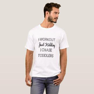からかうIトレーニングちょうど私は幼児のTシャツを追跡します Tシャツ