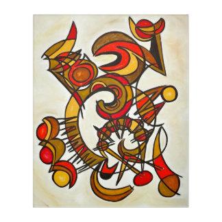 からの調和そして幾何学的な調子抽象芸術 アクリルウォールアート