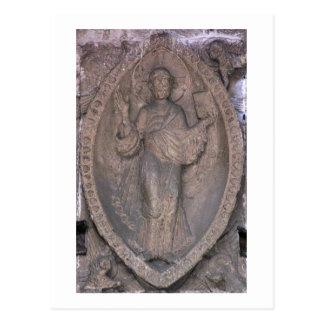 からのmandorlaのキリストを、描写するレリーフ、浮き彫り ポストカード