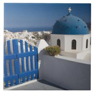 からのSantoriniのギリシャそしてギリシャの島 タイル