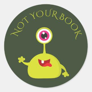 かわいいあなたの本の子供がラベルのステッカーを予約しません ラウンドシール