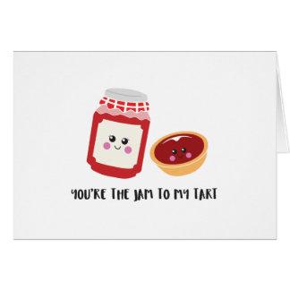 「かわいいあなたは私の鋭い」挨拶状への込み合い カード