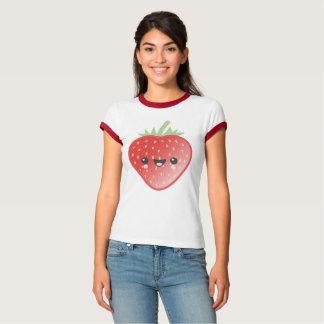かわいいいちごおよび花 Tシャツ