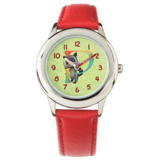 かわいいおたくのアライグマのモノグラムP 腕時計