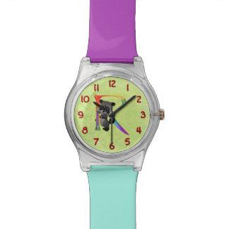 かわいいおたくのアライグマのモノグラムR 腕時計