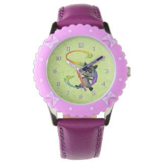 かわいいおたくのアライグマのモノグラムS 腕時計