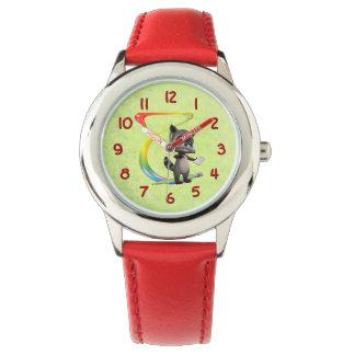 かわいいおたくのアライグマのモノグラムT 腕時計