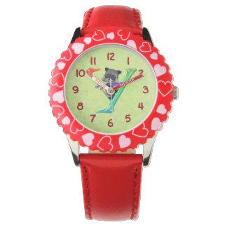 かわいいおたくのアライグマのモノグラムY 腕時計