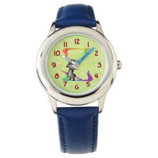 かわいいおたくのアライグマのモノグラムZ 腕時計