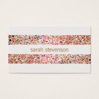 かわいいおもしろいのカラフルな紙吹雪は縞で飾ります 名刺
