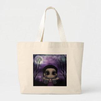 かわいいおもしろいのゴシック様式妖精1 ラージトートバッグ