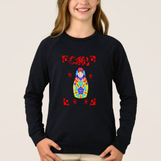 かわいいおもしろいの風変わりなMatryoshkaのロシアのな人形のグラフィック スウェットシャツ