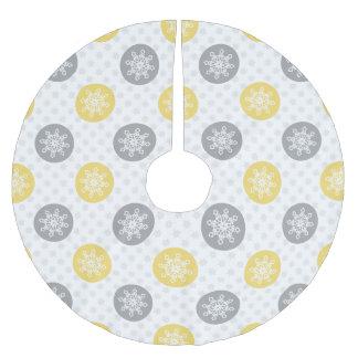 かわいいおもしろいの黄色の灰色の雪片の木のスカート ツリースカート