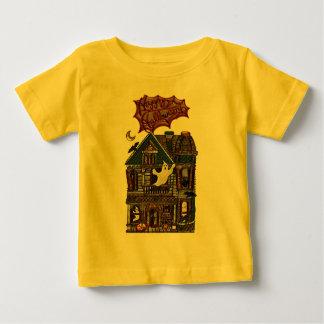 かわいいお化け屋敷の模造のな宝石のプリント ベビーTシャツ