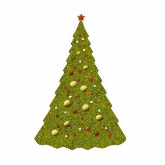 かわいいお祝いの休日のクリスマスツリーのかわいらしいクリスマス 写真彫刻オーナメント