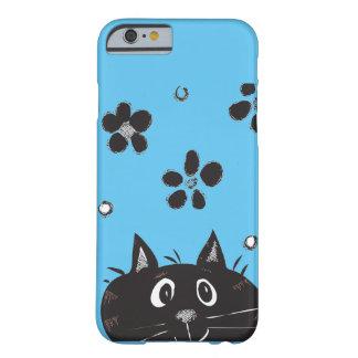 かわいいかいま見ブーイング猫のIPhoneの例 Barely There iPhone 6 ケース