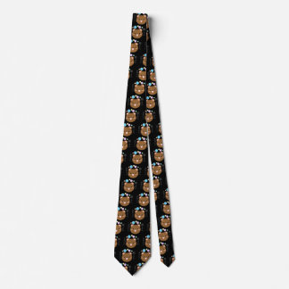 かわいいかかわいいくまの黒の首のタイ ネクタイ