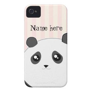 かわいいかわいいのぽっちゃりしたパンダくま Case-Mate iPhone 4 ケース