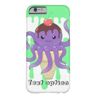 かわいいかわいいのアイスクリームの紫色のタコ BARELY THERE iPhone 6 ケース
