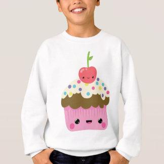 かわいいかわいいのカップケーキ スウェットシャツ