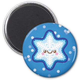 かわいいかわいいのクリスマスの雪片の冷蔵庫用マグネット マグネット