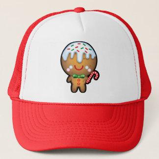 かわいいかわいいのジンジャーブレッドマンのクリスマスのトラック運転手の帽子 キャップ