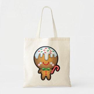 かわいいかわいいのジンジャーブレッドマンのクリスマスの買い物袋 トートバッグ