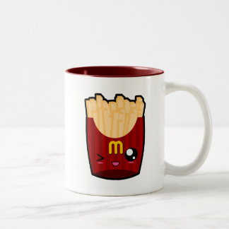 かわいいかわいいのフライドポテトのマグ ツートーンマグカップ