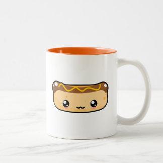 かわいいかわいいのホットドッグのマグ ツートーンマグカップ