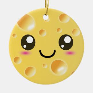 かわいいかわいいの幸せなチーズ セラミックオーナメント