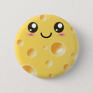 かわいいかわいいの幸せなチーズ 5.7CM 丸型バッジ
