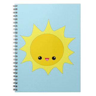 かわいいかわいいの微笑の太陽のノート ノートブック