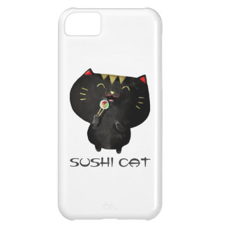 かわいいかわいいの黒い寿司猫 iPhone5Cケース