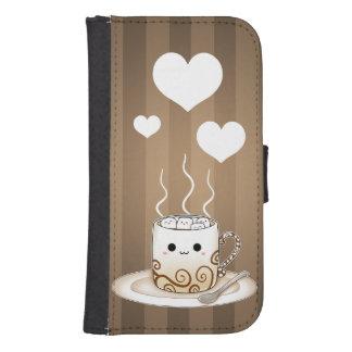 かわいいかわいいはココア飲み物を暖めます ウォレットケース