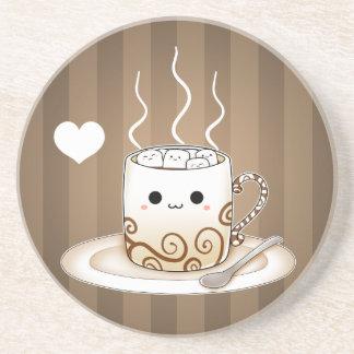 かわいいかわいいはココア飲み物を暖めます コースター