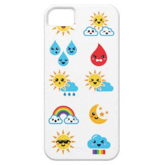 かわいいかわいい太陽、虹、月、雨および雲 iPhone SE/5/5s ケース