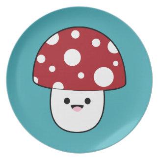 かわいいきのこ菌類 プレート