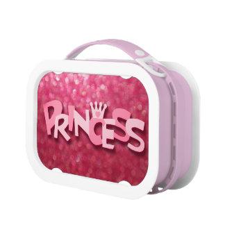 かわいいきらめくピンクのプリンセスの《写真》ぼけ味 ランチボックス