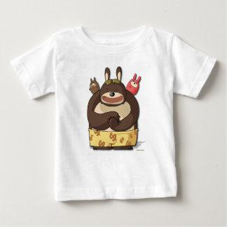 かわいいくまのおもしろいなティーのマンガのキャラクタのTシャツ ベビーTシャツ