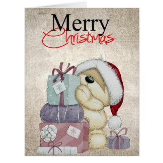 かわいいくまのクリスマスカード ビッググリーティーングカード