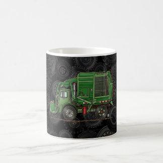 かわいいごみ収集車の屑トラック コーヒーマグカップ