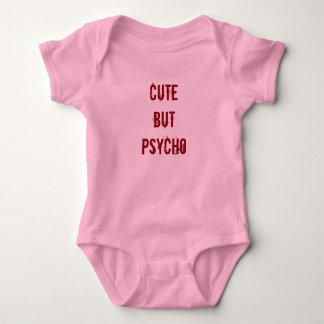 かわいいしかし精神分析の女の赤ちゃんのボディスーツのピンクの恐怖 ベビーボディスーツ