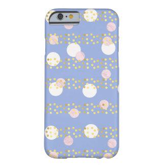 かわいいすみれ色のピンクの大理石は金ゴールドホイルの紙吹雪を一周します BARELY THERE iPhone 6 ケース