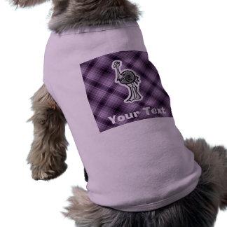 かわいいだちょう; 紫色 ペット服