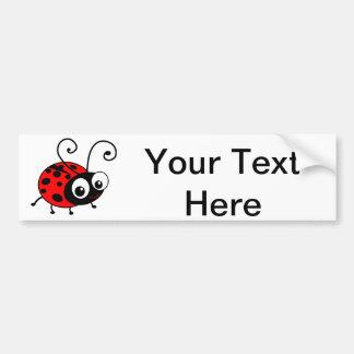 かわいいてんとう虫 バンパーステッカー