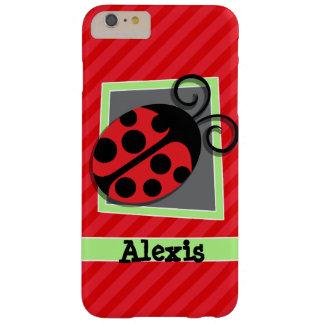 かわいいてんとう虫; 深紅の赤のストライプ BARELY THERE iPhone 6 PLUS ケース
