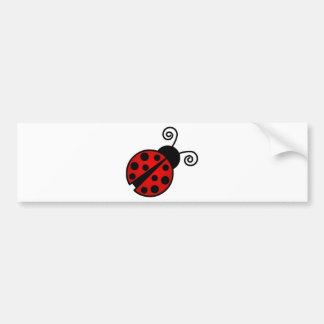 かわいいてんとう虫-赤および黒 バンパーステッカー