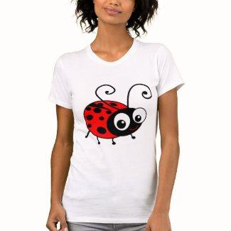 かわいいてんとう虫 T シャツ